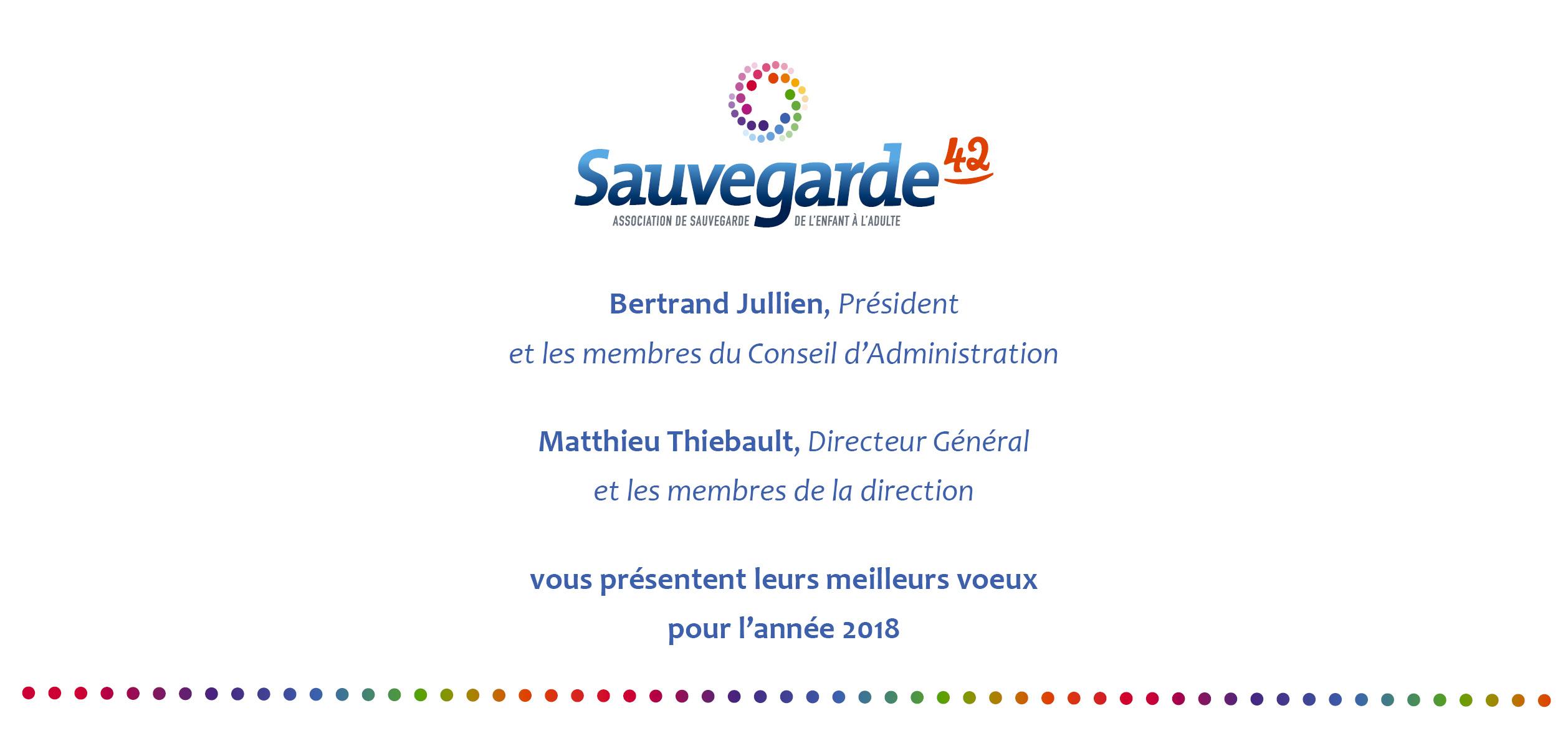 Sauvegarde42 association de sauvegarde de l 39 enfant l 39 adulte - Texte carte de voeux 2017 ...
